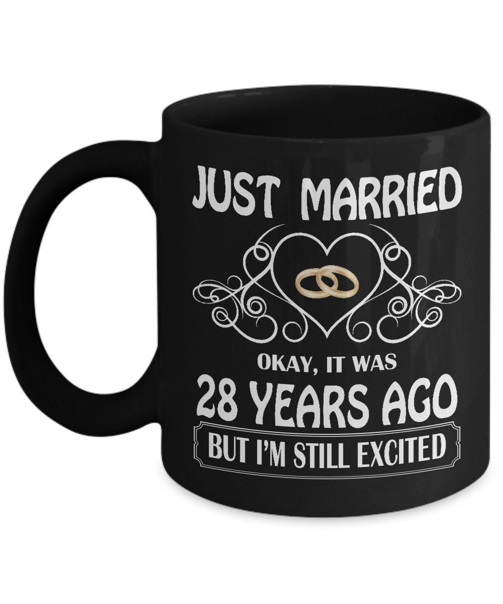 28th Wedding Anniversary Gift: 28th Wedding Anniversary Mug, Great Gifts For Couples
