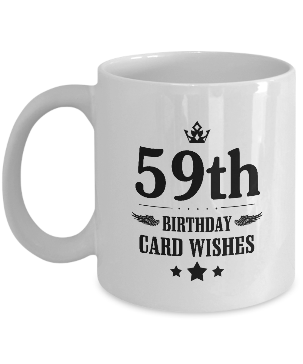 Gag Birthday Gift For Wife Girlfriend 59th Card Wishes