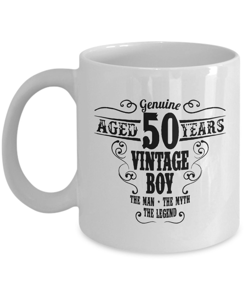 White Coffee Mug 11Oz Birthday Gift For People 50 Years Old