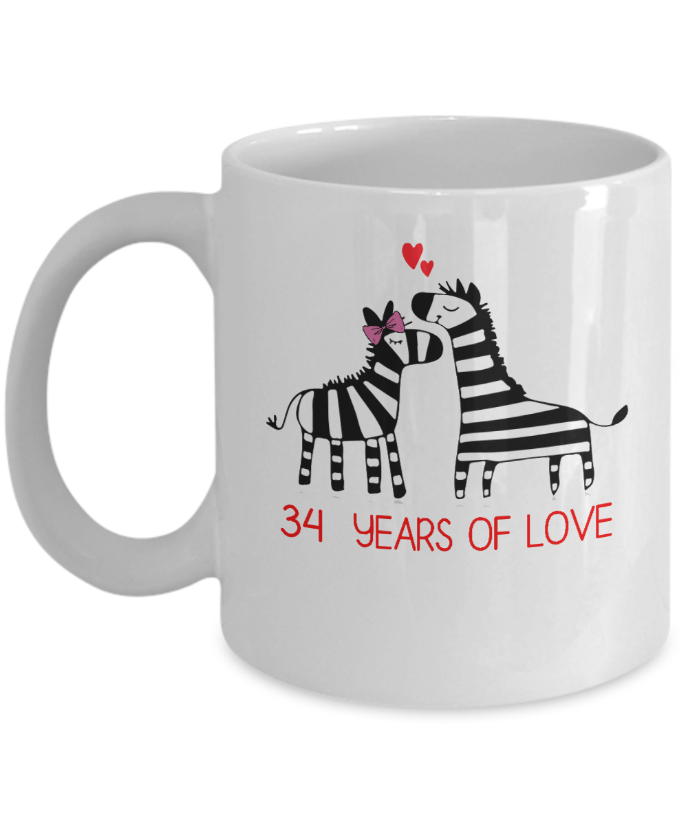 Funny Mug For 34th Wedding Anniversary. Wedding Anniversary Gifts For Couples: Gearbubble Campaign