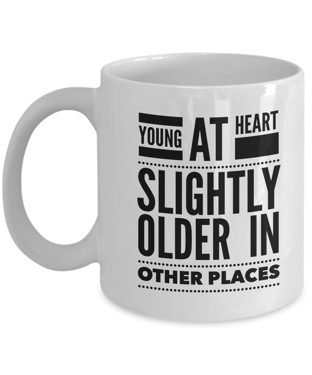 Senior Citizen Mug Young At Heart New Grandparent Gifts Mugs For
