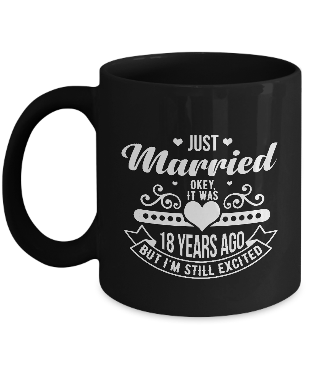 Gifts For 18th Wedding Anniversary: 18th Wedding Anniversary Gifts For Couples. Funny Coffee