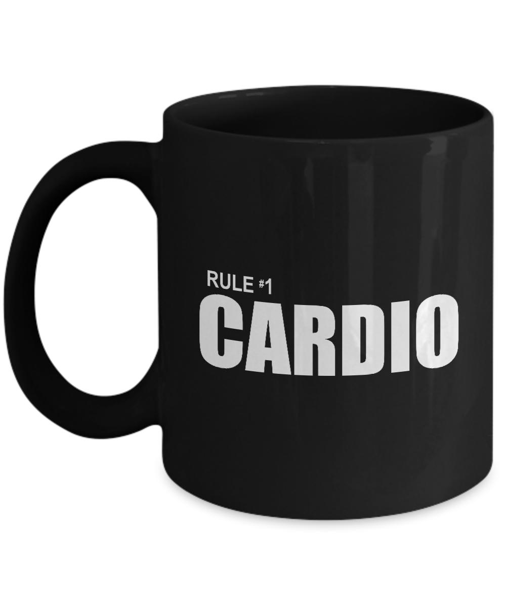 Zombieland Rule 1 Cardio Funny Gift Mug Number One Zombie