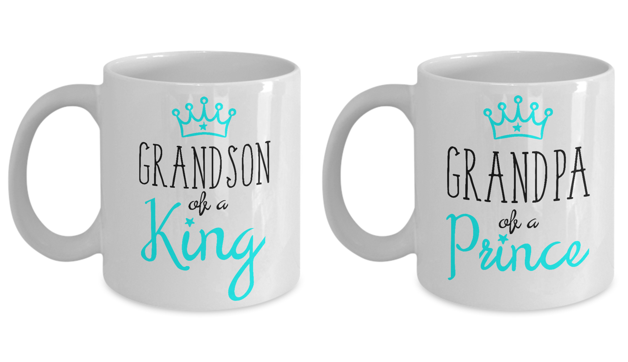 Grandpa Mug Matching Grandson Funny Grandfather King ...