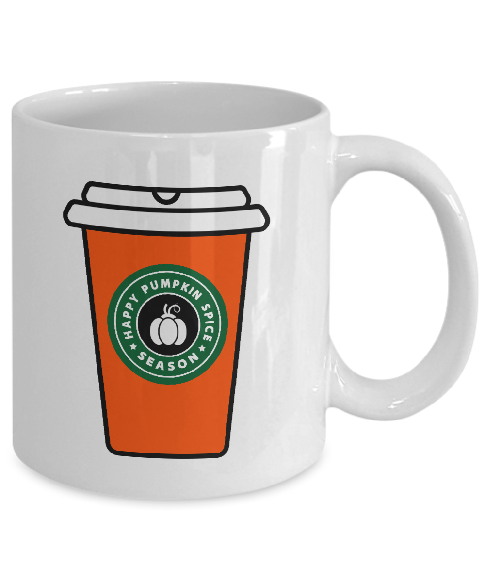 starbucks happy pumpkin spice season funny mug gift fall halloween