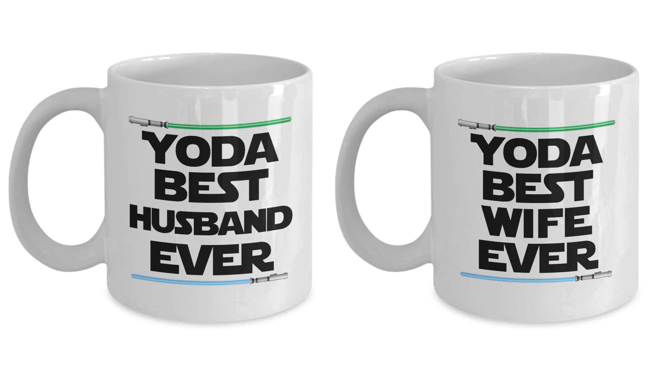 Yoda Best Husband And Wife Gift Mug SET OF TWO Nerd Star