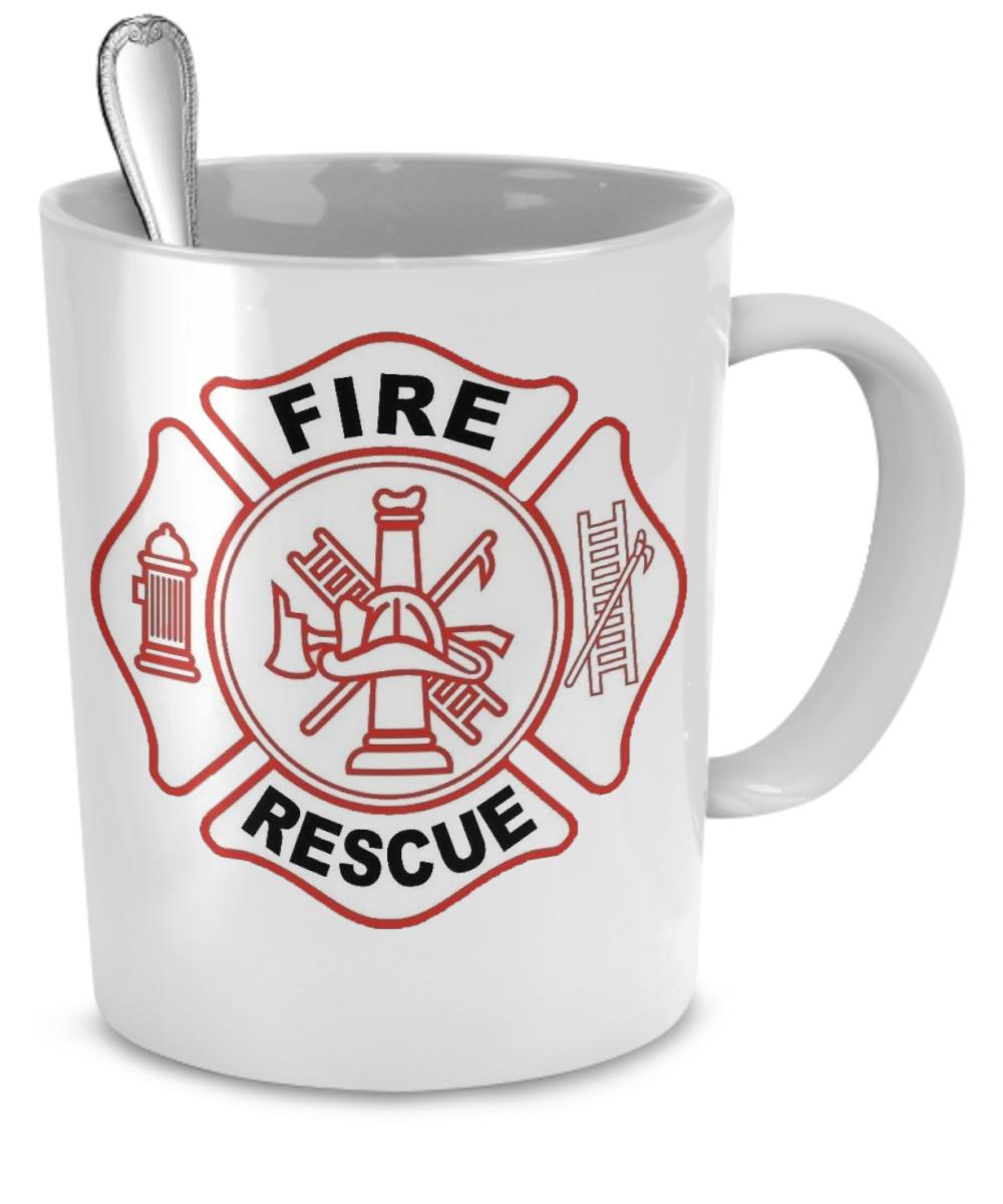 Fire Rescue White Coffee Mug