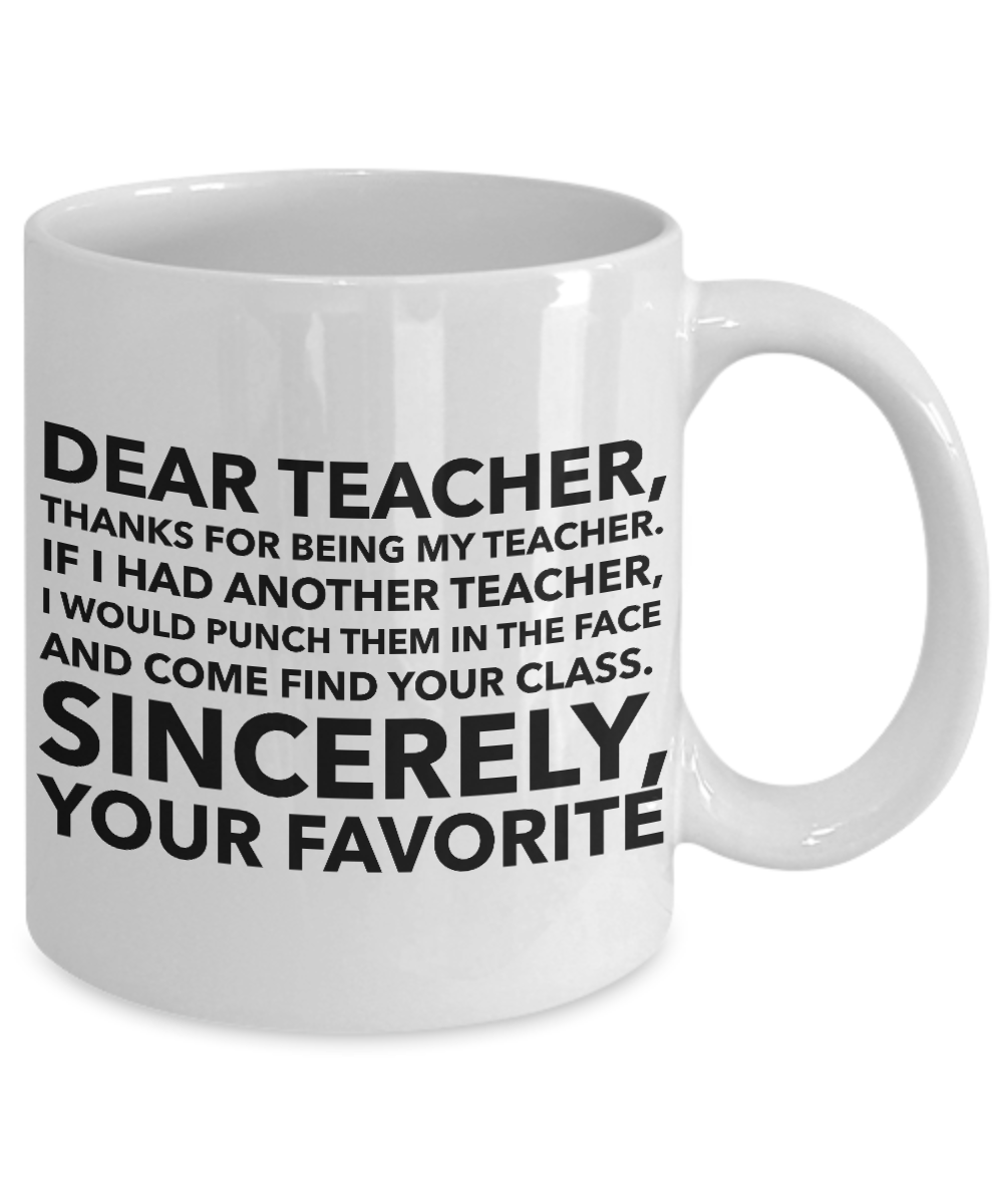 Details about Funny Teacher Gift - Thanks for Being My Teacher - Teacher  Appreciation Day