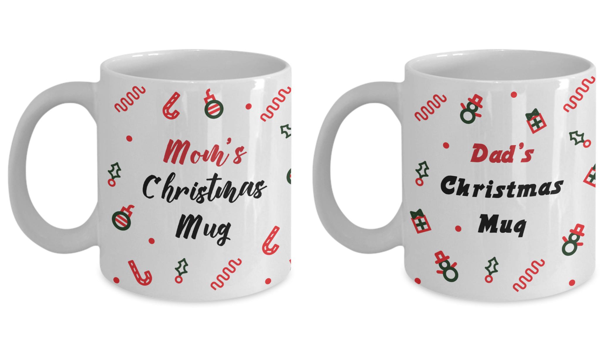 Parents Christmas Gift Christmas Mugs Set Dad And Mom Christmas Gift Gift For Family For Christmas Family Christmas Mug