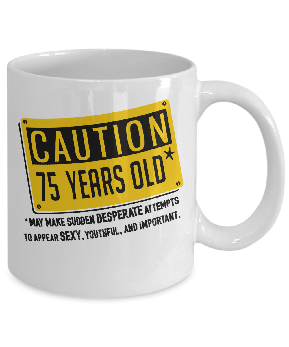 d324f9f51a3 ... 75 Years Old - 75th Birthday Gifts - Cool Birthday Gifts For Family -  11oz