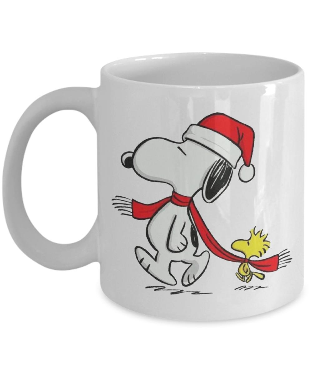 Christmas Xmas Gifts Mugs Peanuts Snoopy and Woodstock IV Ceramic ...
