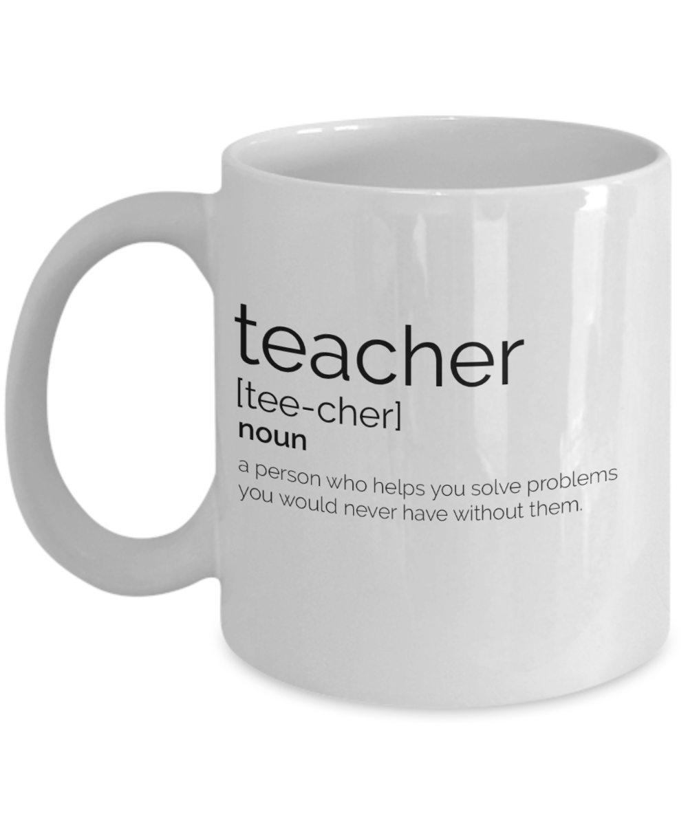 teacher definition coffee mug funny teacher gift teacher quote