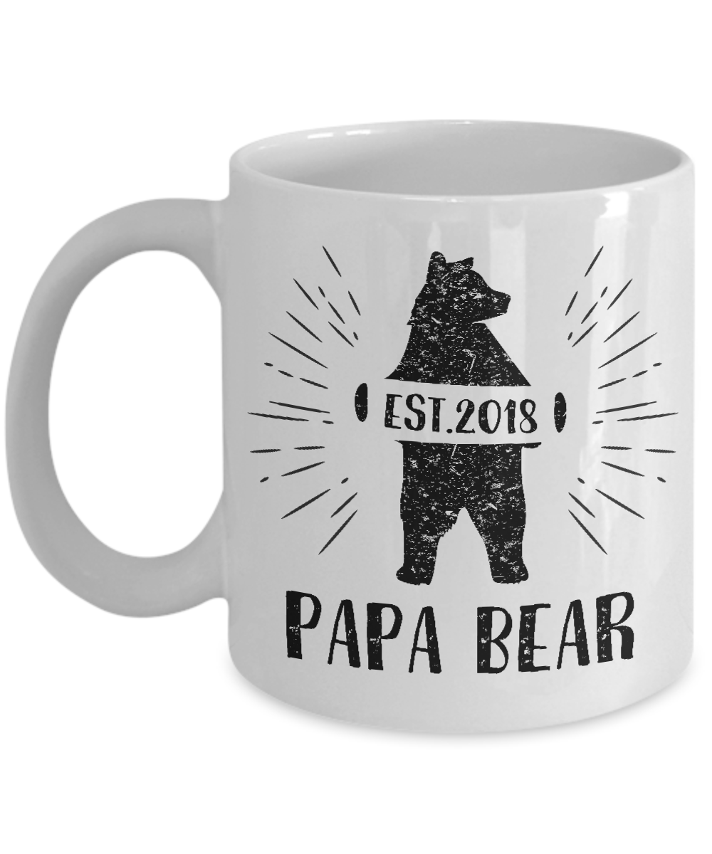 photo relating to Chip Teacup Printable named Papa Endure Espresso Mug Items For Grandpa Fathers Working day Reward