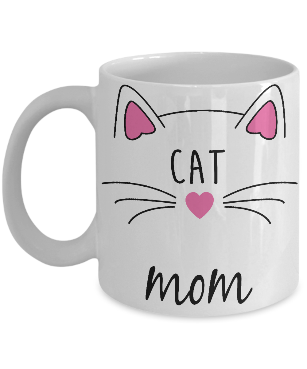 Front  sc 1 st  Gearbubble & Cat Mom Coffee Mug | Best Cat Gifts | Cat Mug | Kitty Cat Coffee Mug ...