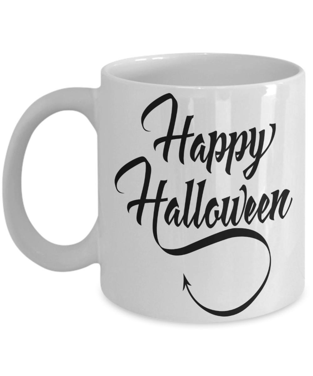 Happy Halloween Coffee Mug Gift For Her Halloween Gift For Him Custom Cute Halloween Halloween Mug Halloween Mask Halloween
