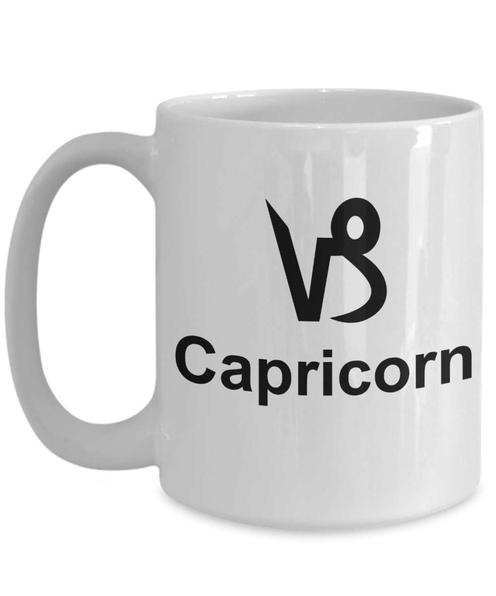Gift For Capricorn Woman - Leo Coffee Mugs - Zodiac Mugs - Nice Capricornus Cups - Capricorn Gift Ideas - 15 Oz White Mug - Capricorn: Gearbubble Campaign