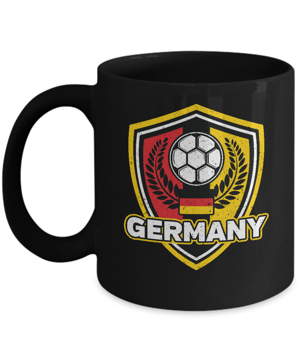 Germany Soccer Coffee Mug 11oz Black Ceramic Cup Soccer Gift