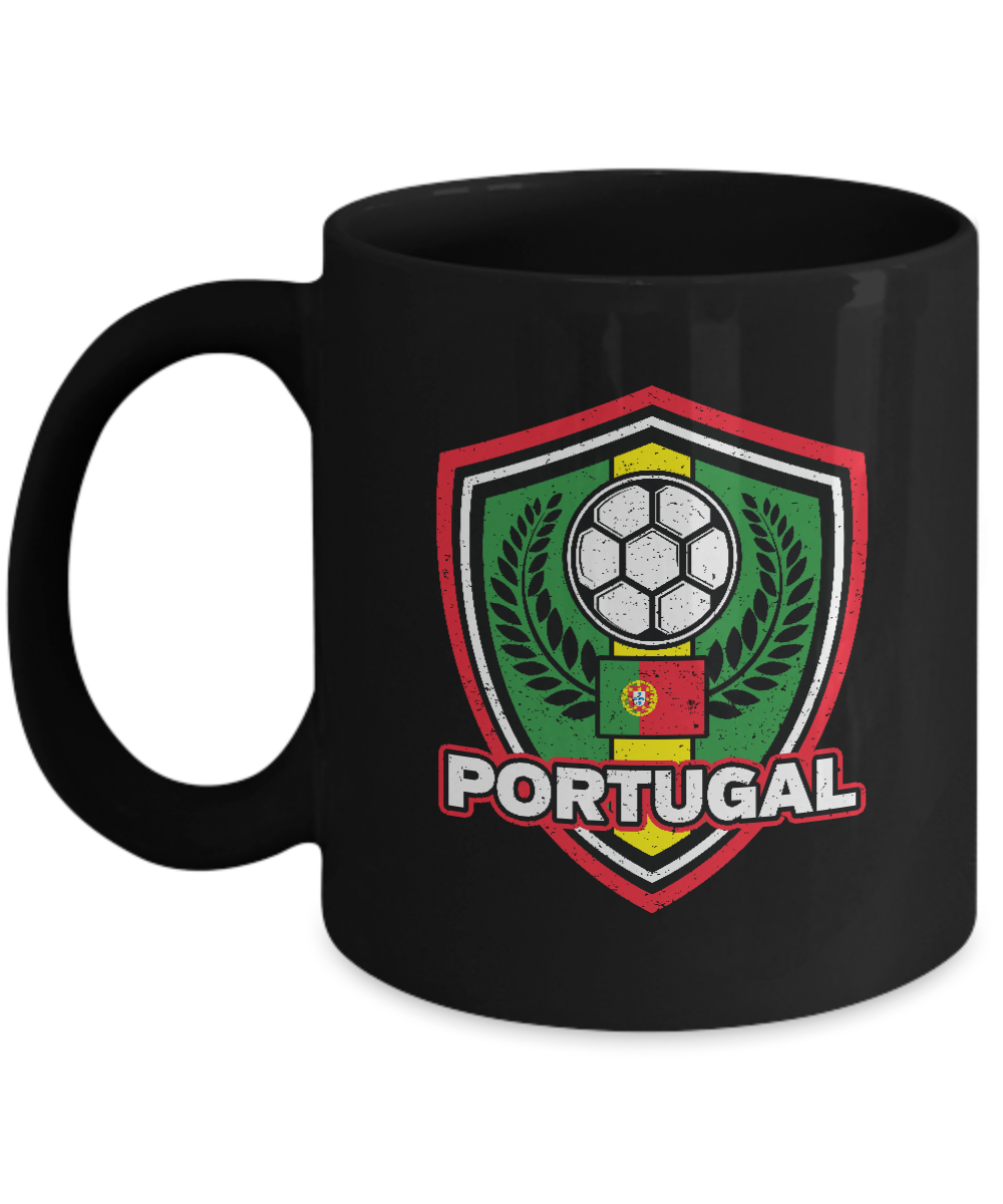 Portugal Soccer Coffee Mug 11oz Black Ceramic Cup Soccer Gift