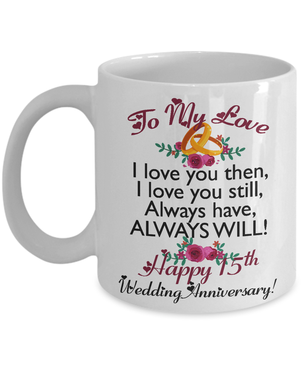 15th Wedding Anniversary Gifts For Men Women Wife Husband Her Him
