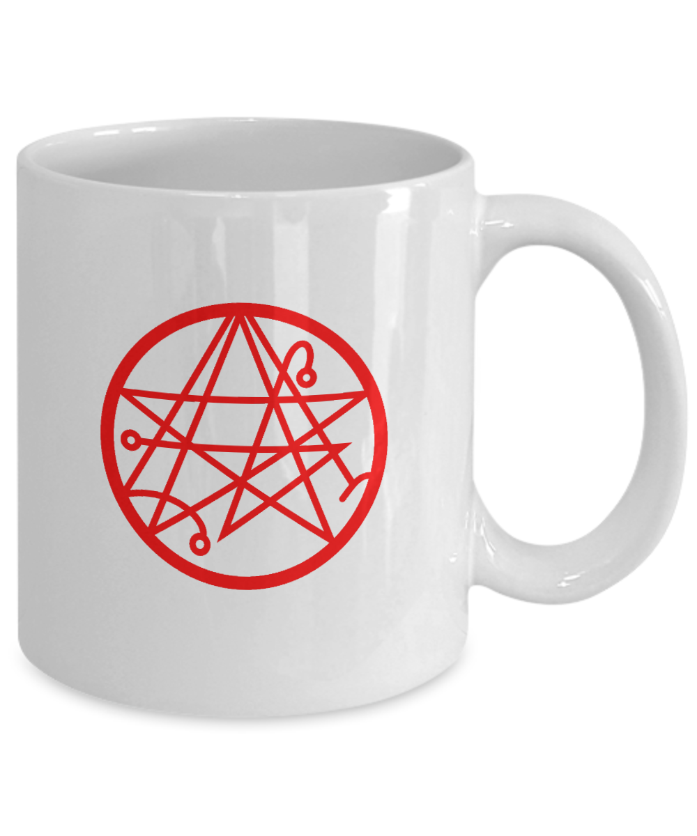 Necronomicon gate symbol H P  Lovecraft coffee mug