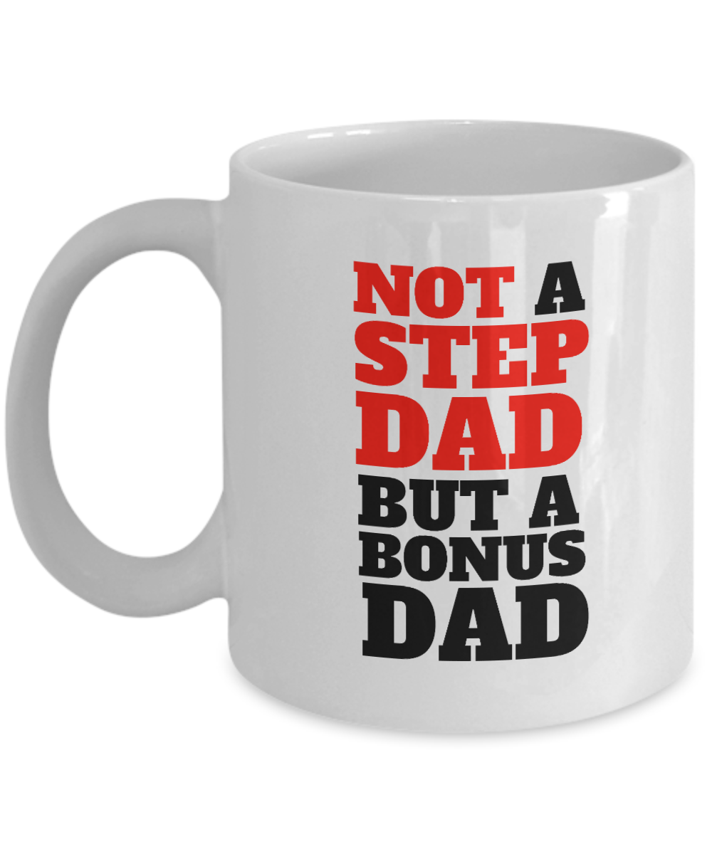 db7a9f446 Bonus Dad Mug by JOLIA LLC - Stepfather Mug, Gift For Stepdad. Front
