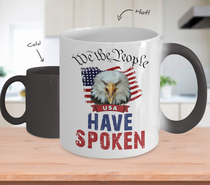 REVISED - Color Changing Mug - We The People - Have Spoken