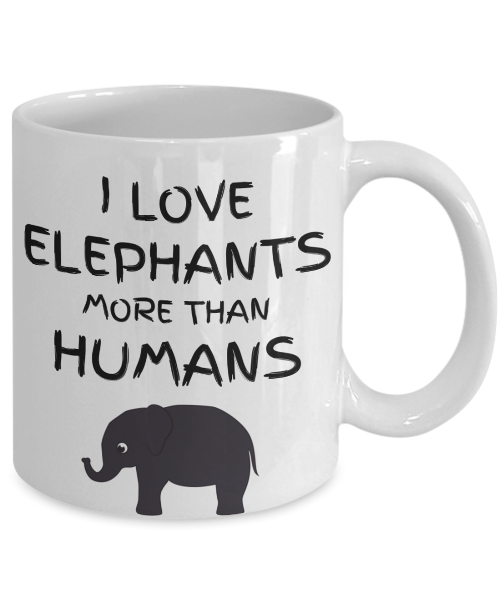 Funny Elephant Coffee Mug Lover Gift