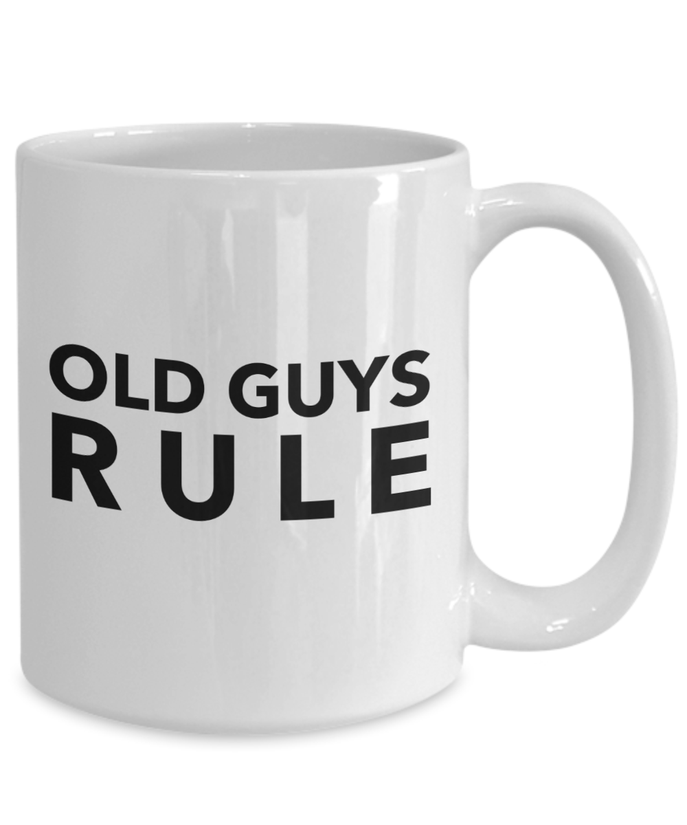 Old Guys Rule Coffee Mug - Funny For Men Gift | eBay