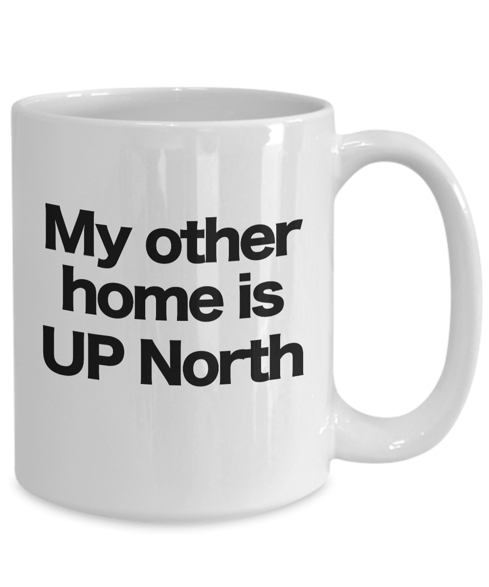 miniature 5 - UP North Home Coffee Mug Funny Gift for Pure Michigan Great Lakes Cabin Cottage