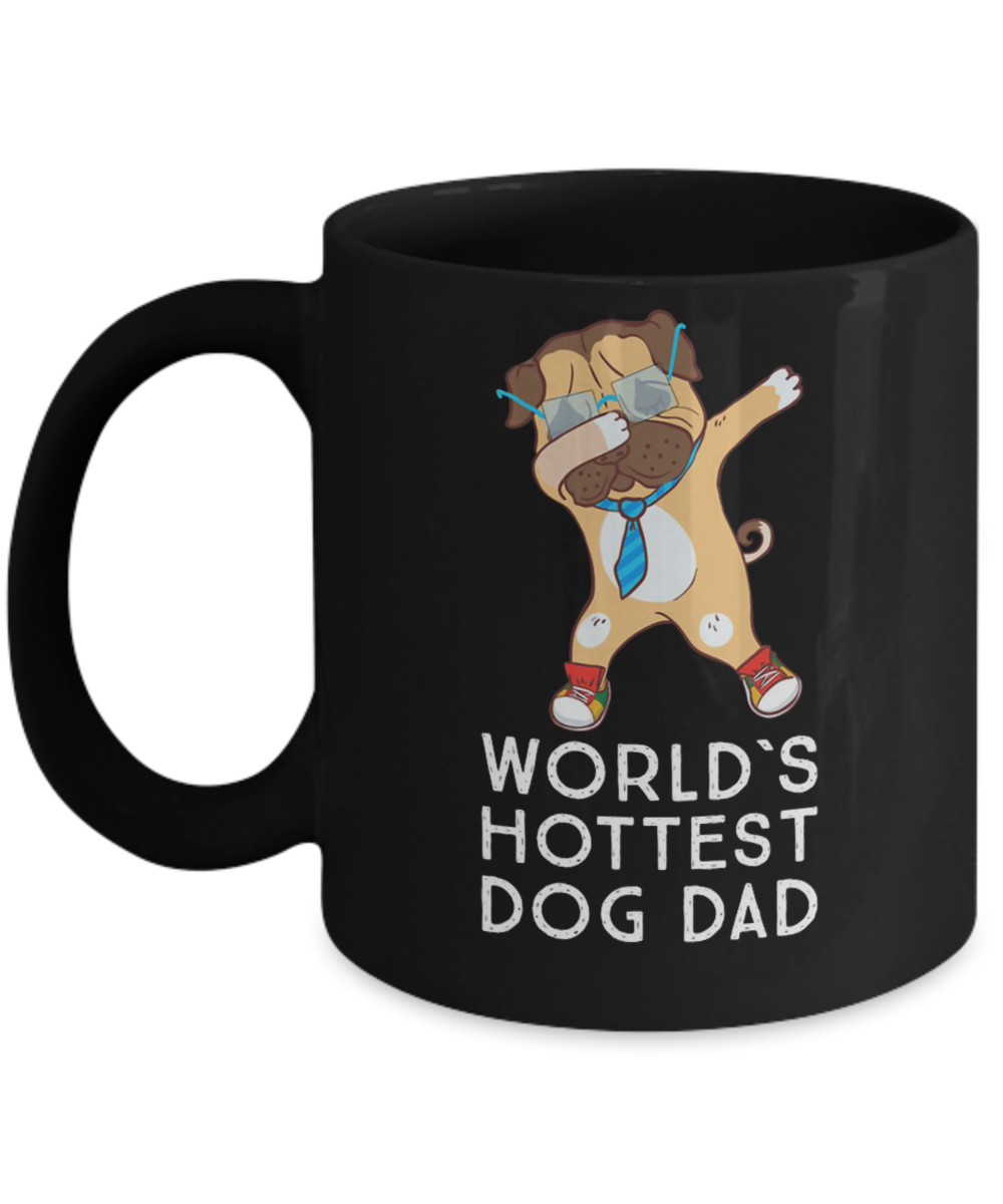 17efef04 World`s Hottest Dog Dabbing Daddy Pug, Single Pug Dad T shirt Fathers Day  Dog Lover Gifts, Boxer Dad Dog, Best Dog DAD ever Mother Boxes Best friends  dog ...