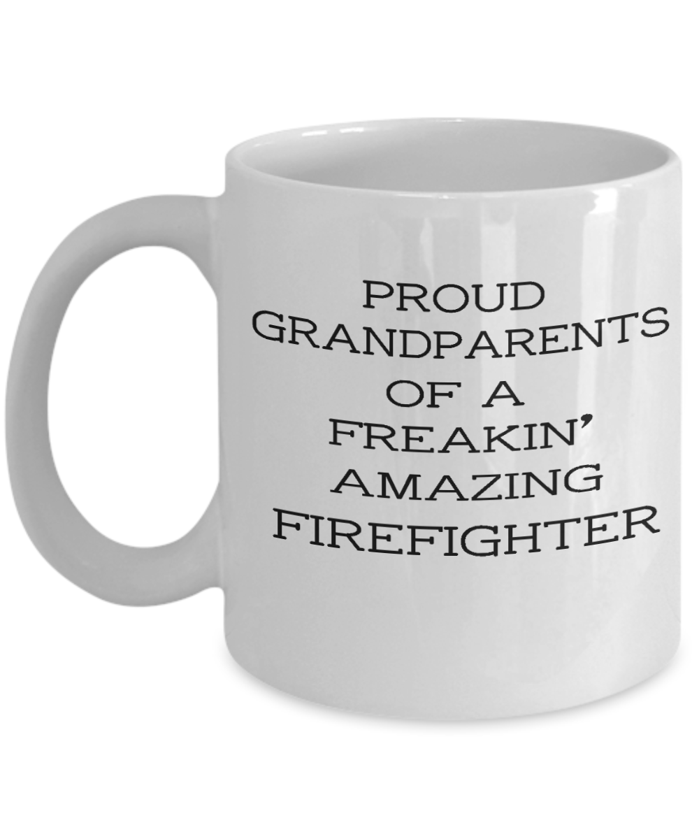 Proud grandparents firefighter mug,proud grandparents of a ...