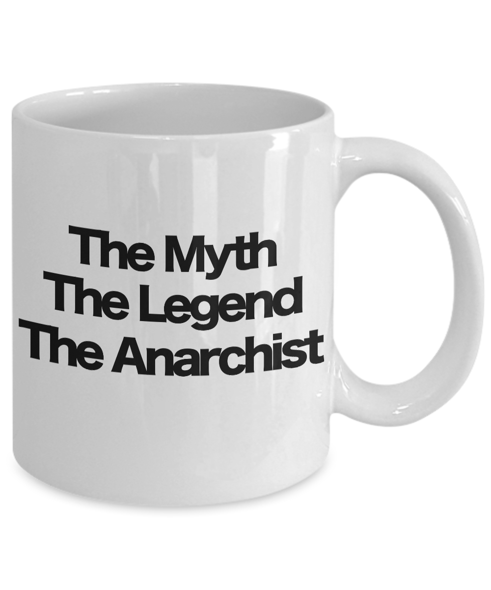 miniature 3 - The Myth The Legend The Anarchist Coffee Mug Funny Gift for Dad Mom Libertarian