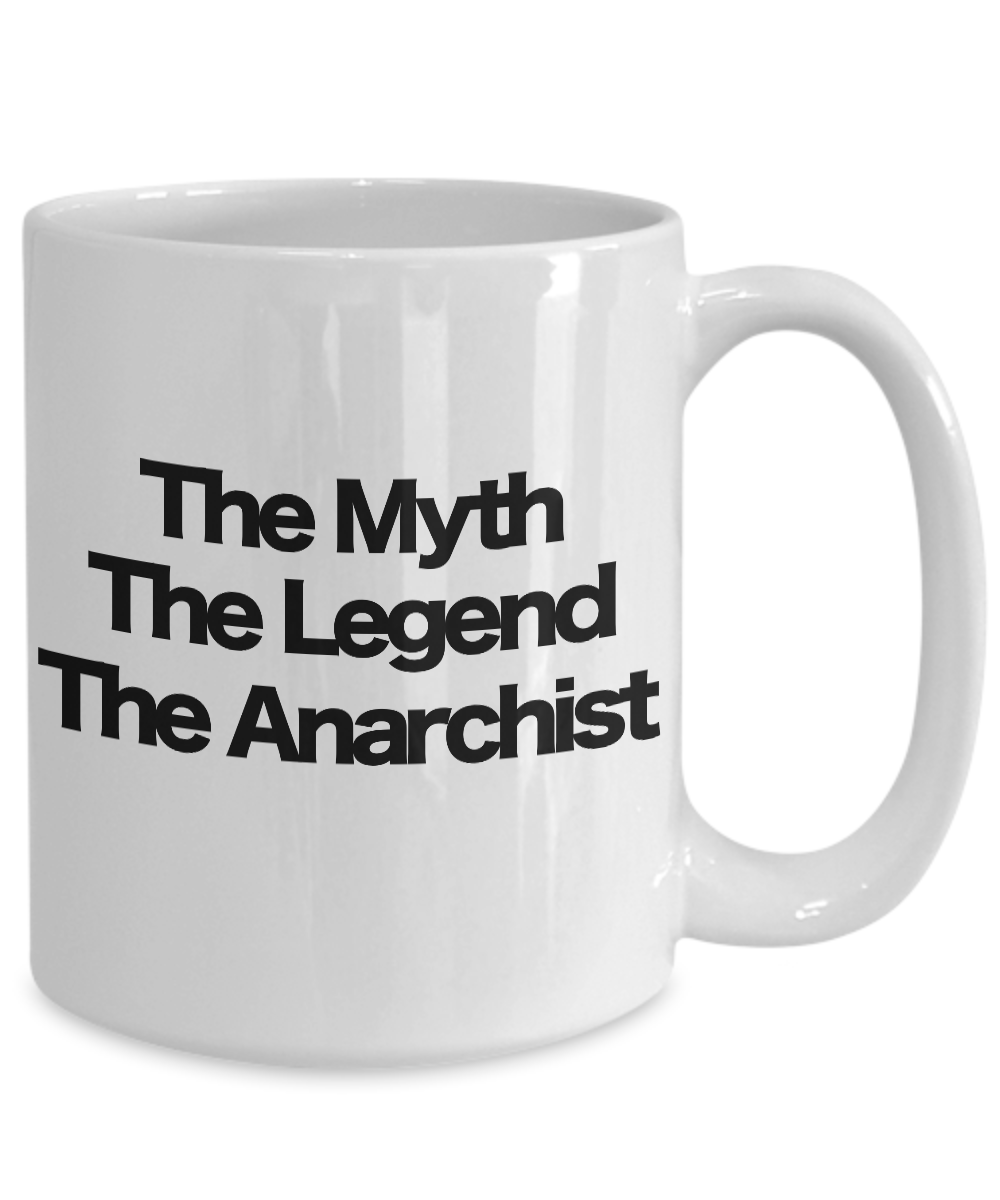 miniature 5 - The Myth The Legend The Anarchist Coffee Mug Funny Gift for Dad Mom Libertarian
