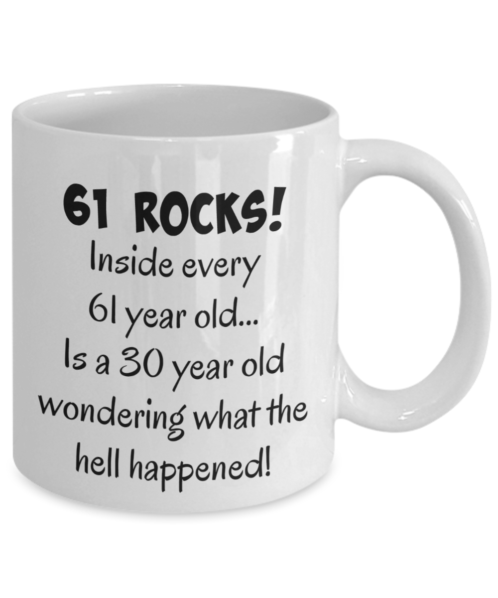 Happy 61 Year Old 1958 61st Birthday Gift Mug For Women Or