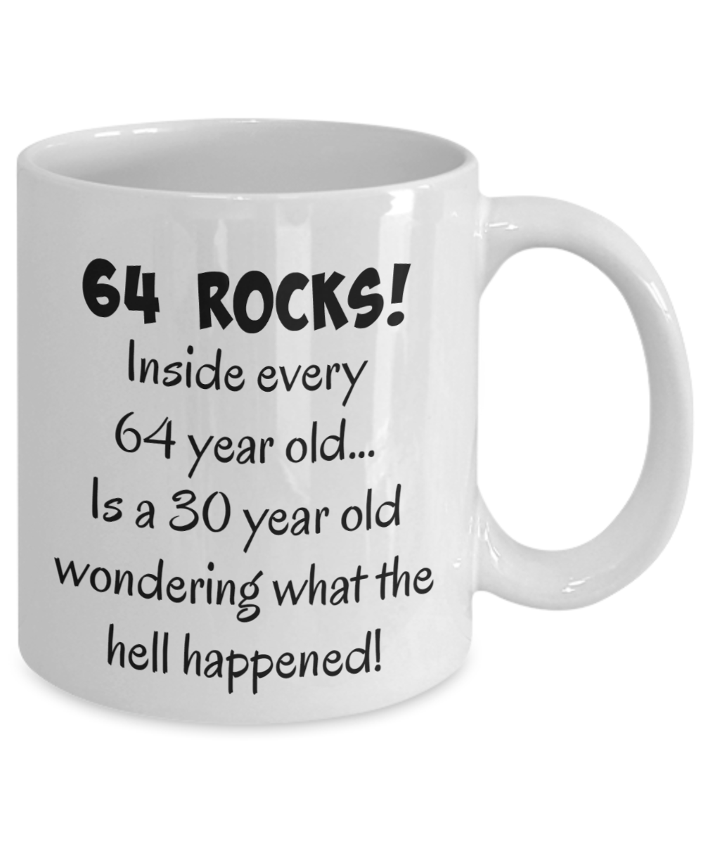 Happy 64 Year Old 1954 64th Birthday Gift Mug For Women Or Men