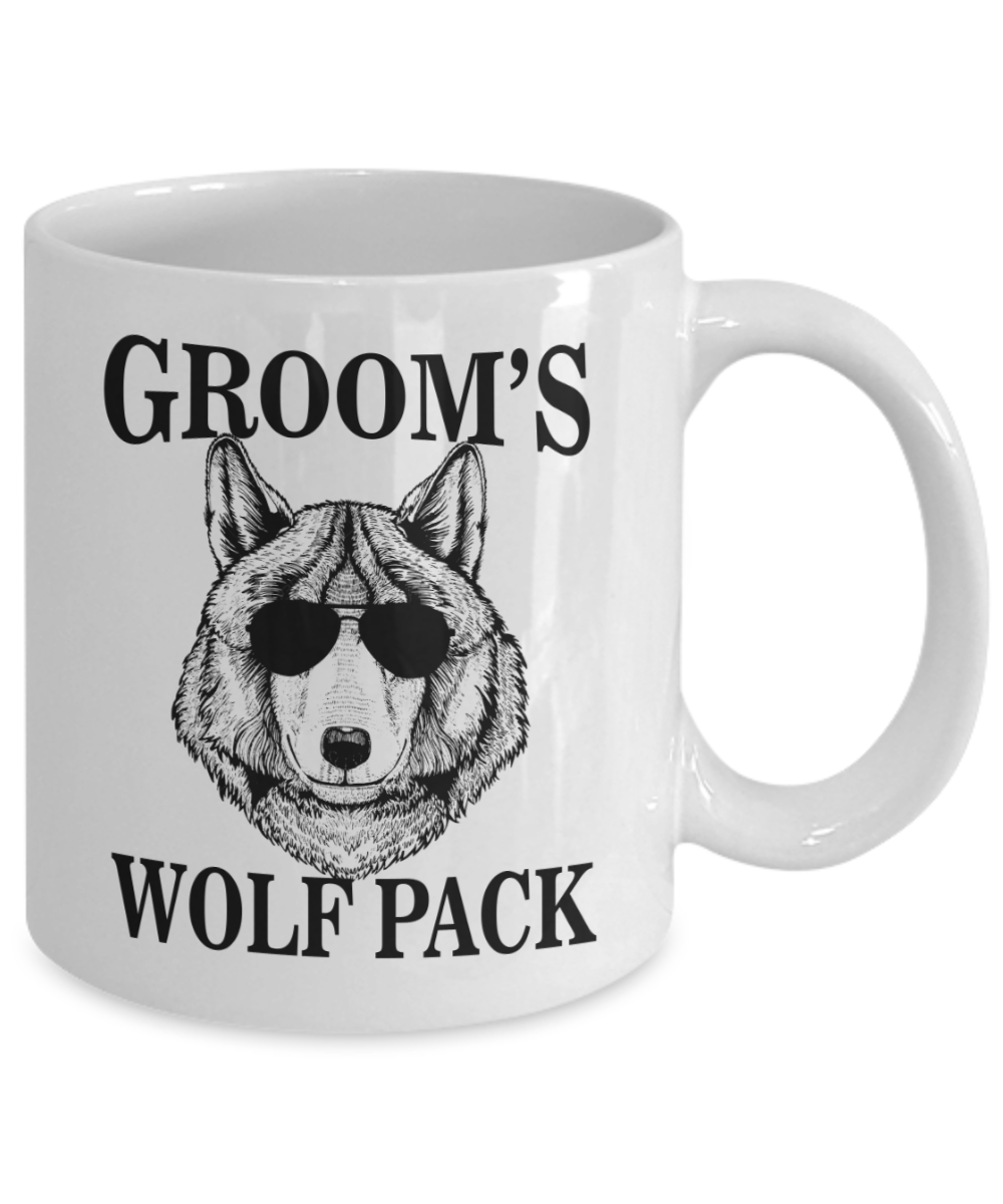 Grooms Wolf Pack Wild Bachelor Party Gift Mug For Men Coffee Cup Squad Wolfpack Wolves Groomsmen Ideas Mugs Team Groom