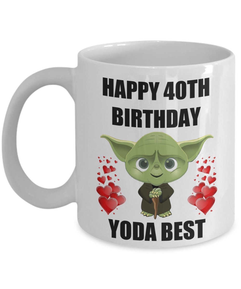 40th Birthday Gifts For Yoda Best Husband Wife Mom Dad Daughter