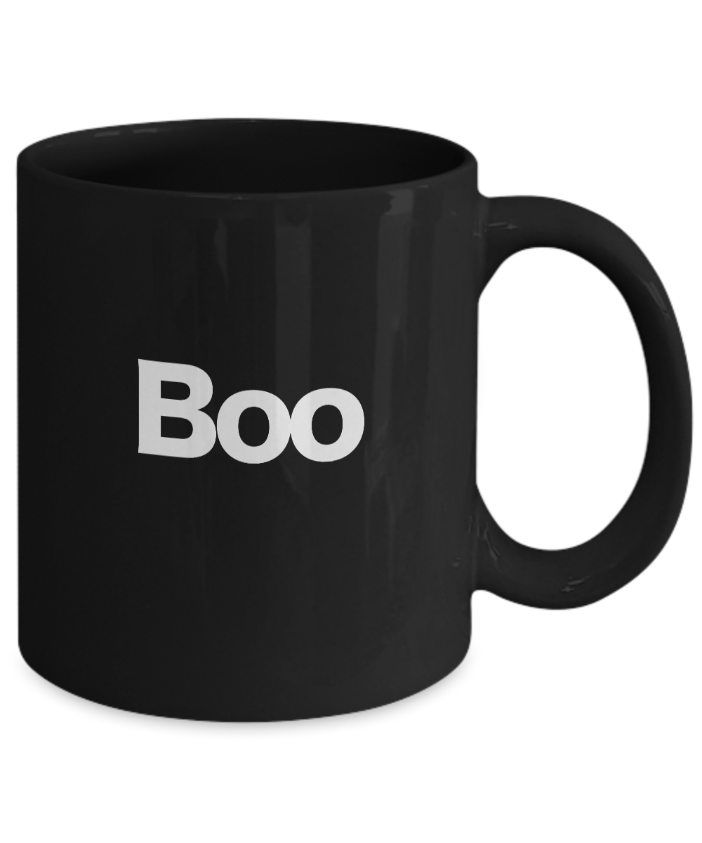 Boo-Halloween-Mug-Black-Coffee-Cup-Funny-Gift-for-Witches-Ghost-Gobblins-Fall miniature 3