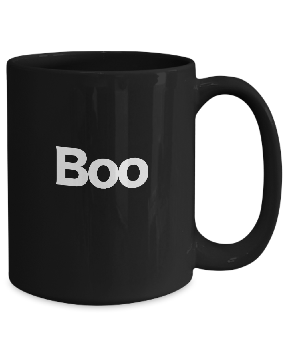 Boo-Halloween-Mug-Black-Coffee-Cup-Funny-Gift-for-Witches-Ghost-Gobblins-Fall miniature 5