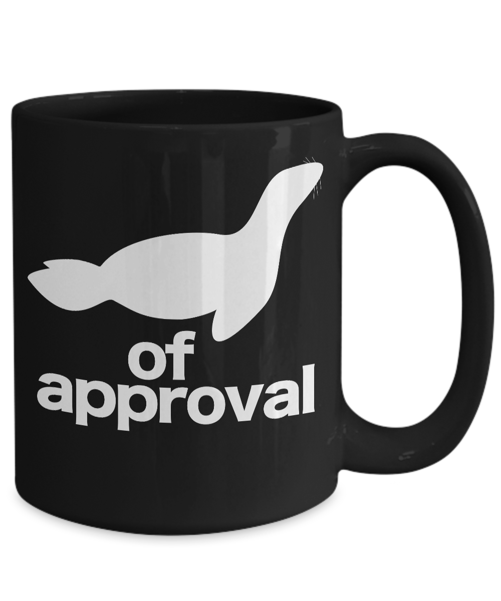 miniature 5 - Seal-of-Approval-Mug-Black-Animal-Coffee-Cup-Funny-Gift-for-Teacher-Professor