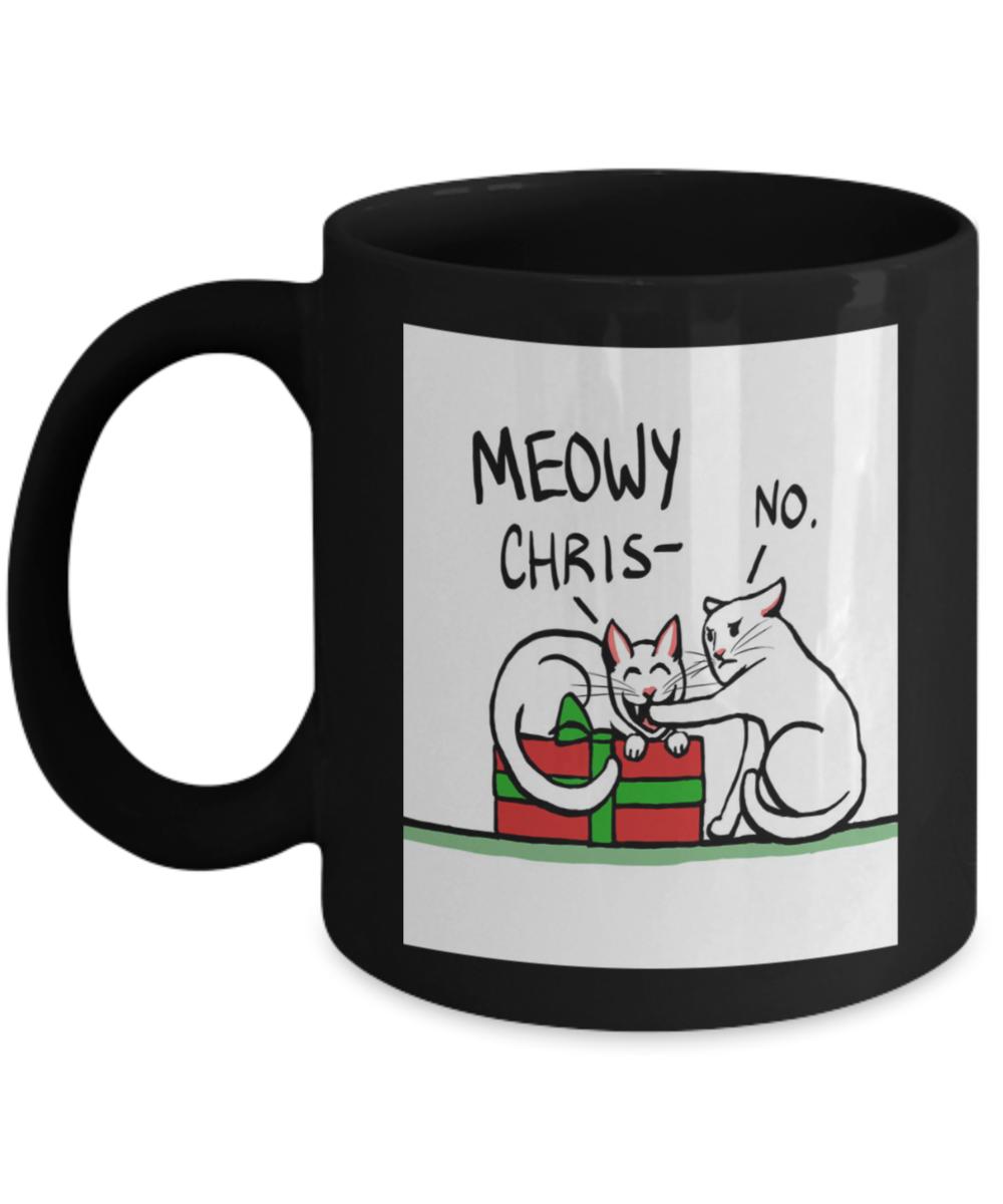 Coffee Christmas Puns.Meowy Christmas Cat Lovers Funny Xmas Coffee Mugs Gift