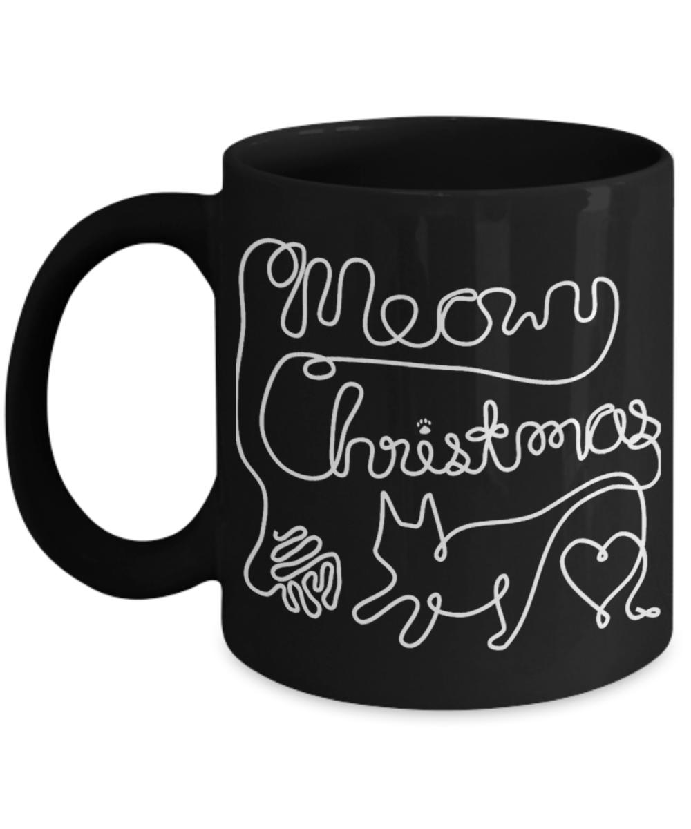 Coffee Christmas Puns.Meowy Christmas Yarn Cat Love Coffee Mugs Cat Shirts
