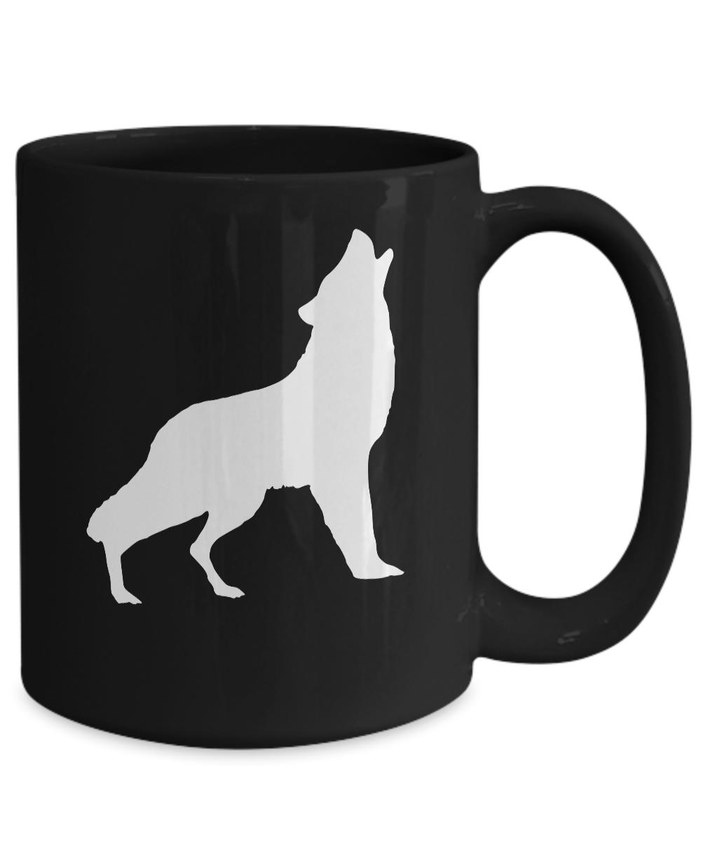 Coyote-Mug-Black-Ceramic-Coffee-Cup-Howling-Dog-Gift-for-Prairie-Ranch-Hunter miniature 5