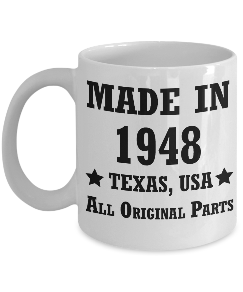 Image Is Loading 70th Birthday Gifts For Men Women Texas 1948