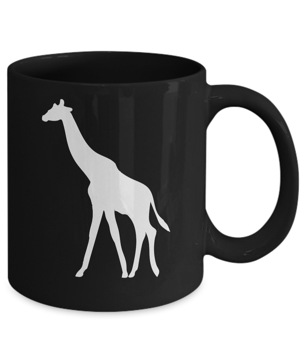 miniature 3 - Giraffe Mug Black Coffee Cup Gift for Animal Lover African Safari Zoo Expedition