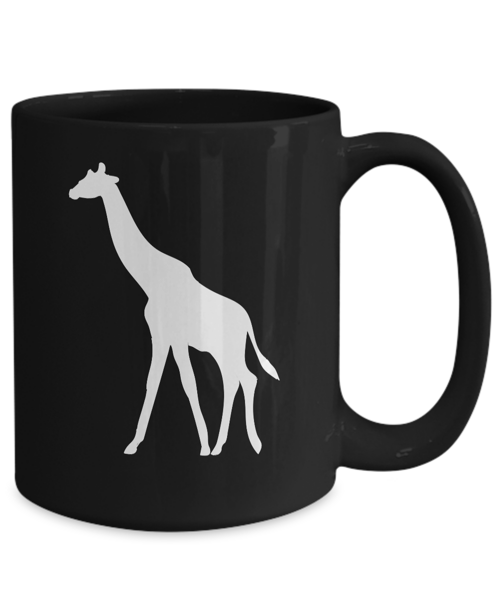 miniature 5 - Giraffe Mug Black Coffee Cup Gift for Animal Lover African Safari Zoo Expedition