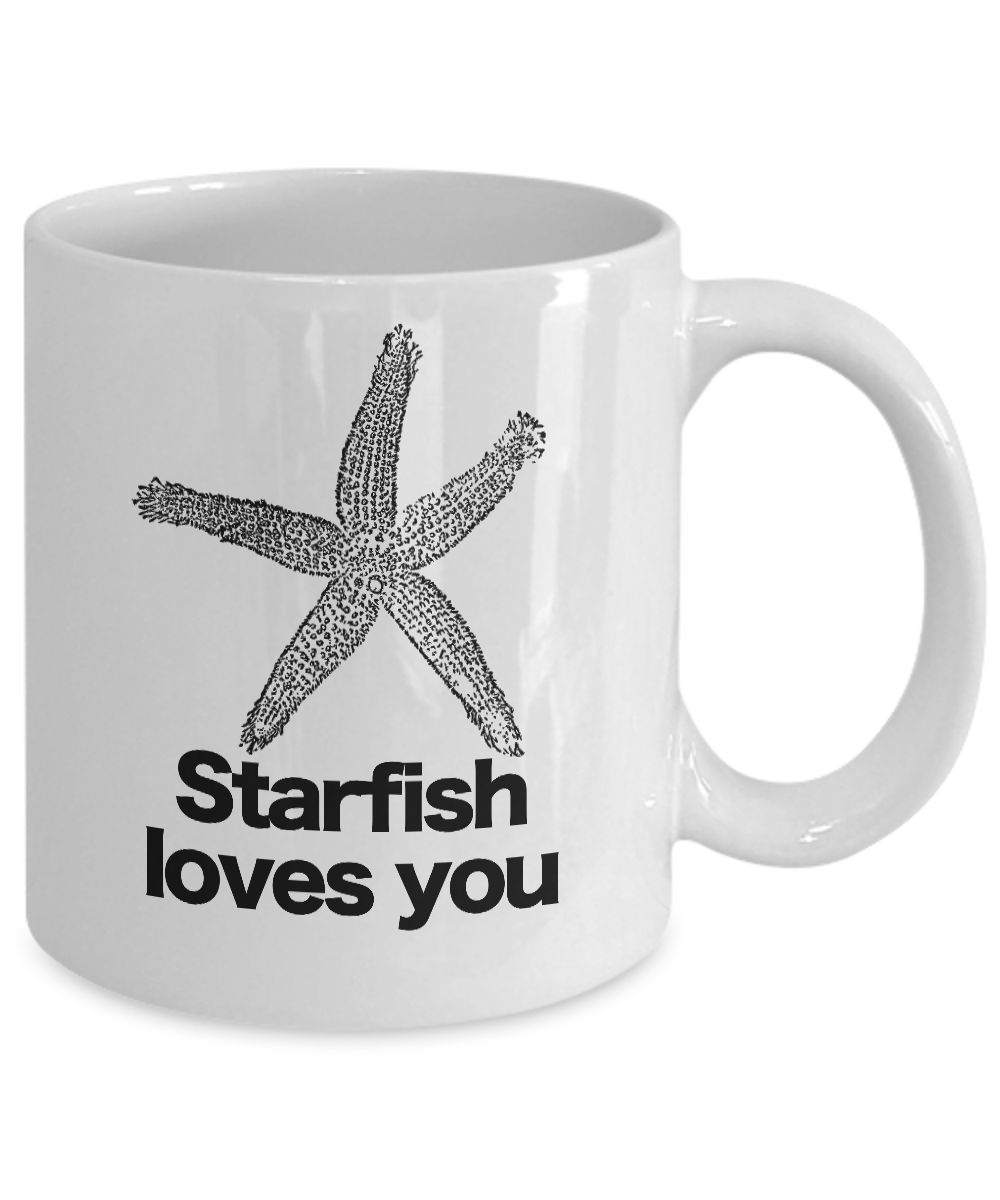 miniature 3 - Starfish Loves You Mug White Coffee Cup Funny Gift Charlie the Unicorn Adventure