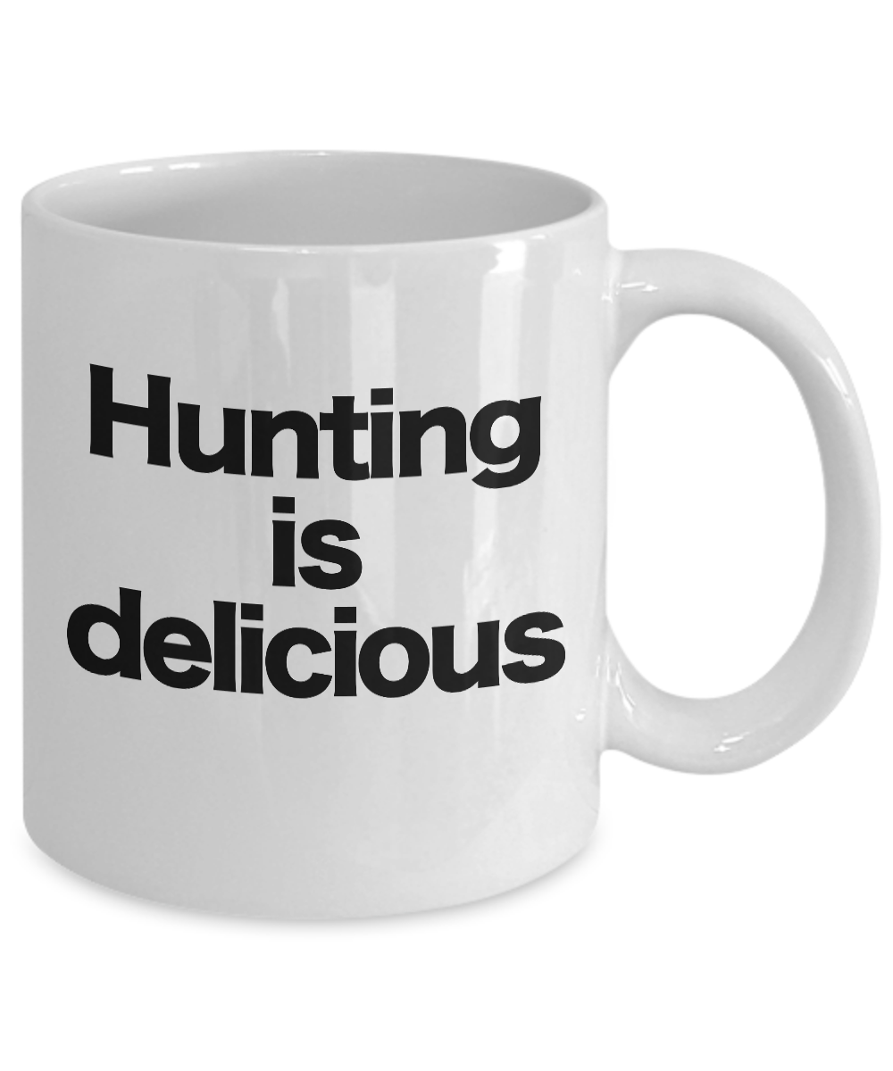 miniature 3 - Hunting Is Delicious Mug White Coffee Cup Funny Gift for Hunter Deer Bear Turkey