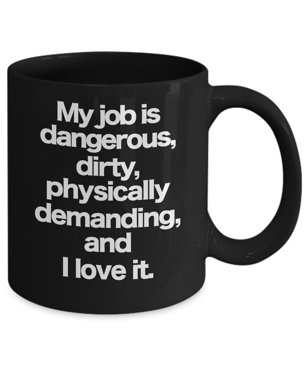 miniature 3 - Dirty Jobs Mug Black Coffee Cup Funny Gift for Hard Working Co-Worker