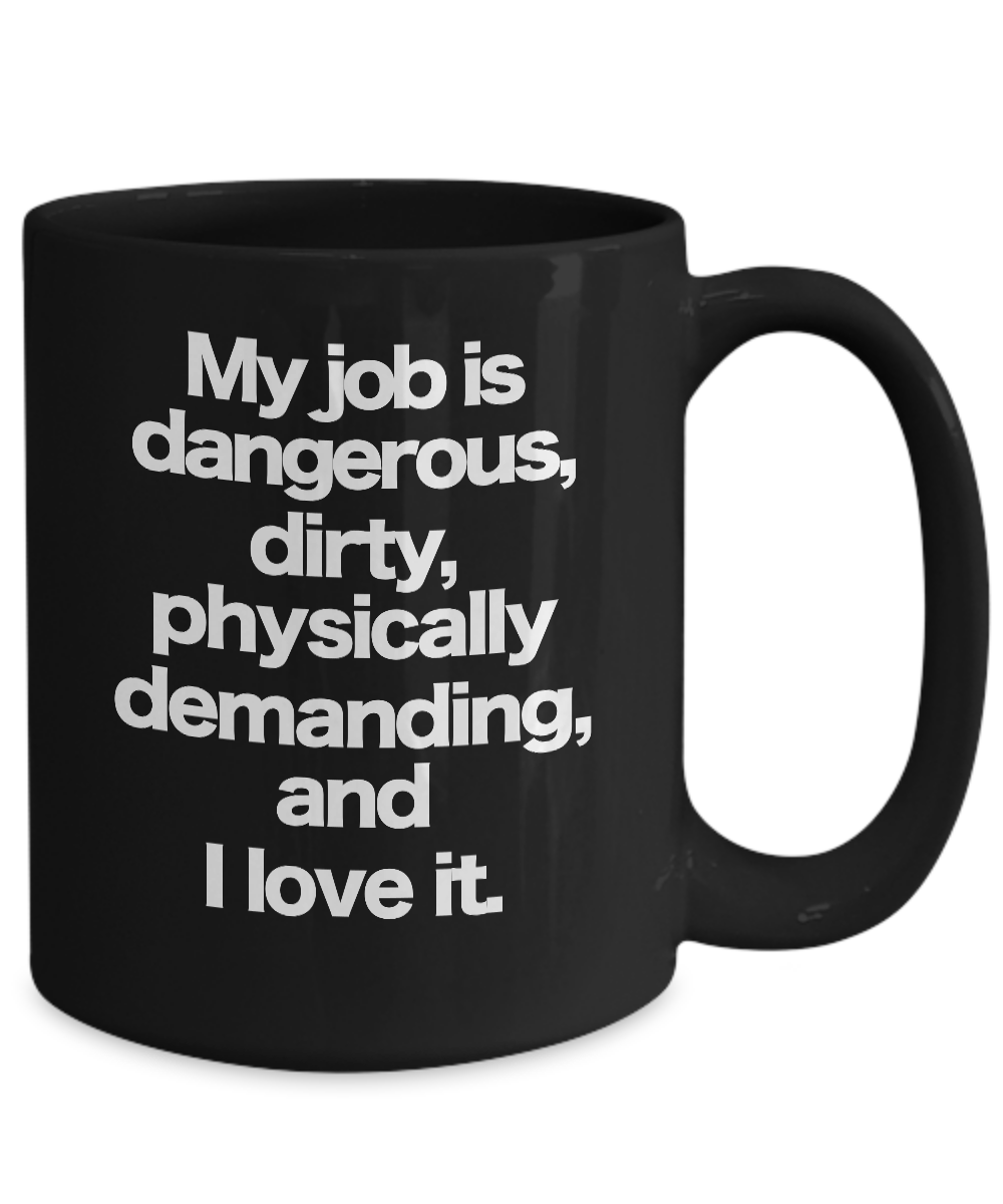 miniature 5 - Dirty Jobs Mug Black Coffee Cup Funny Gift for Hard Working Co-Worker